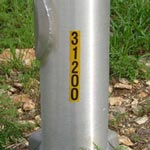 Aluminum Pole Number Placement Example