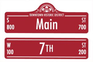 New historic district street signs