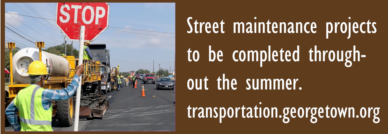 Proyectos de mantenimiento de calles